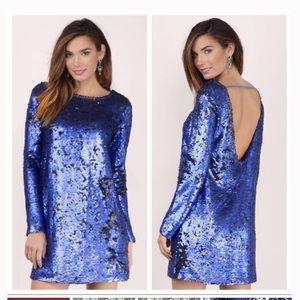 "MinkPink Blue Sequin ""The Great Escape"" Dress"